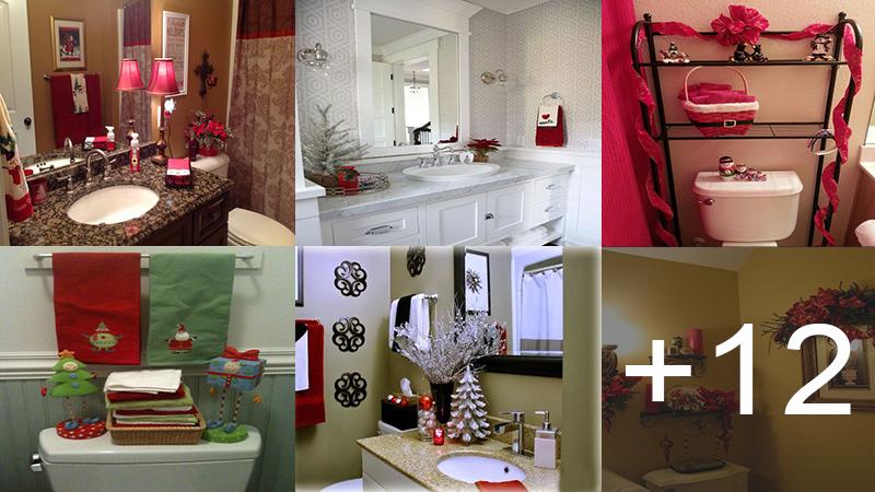 Decoraciones navideñas para tu baño muy simples