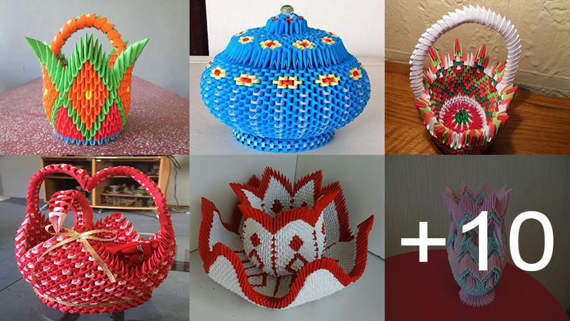 hacer estas hermosas ideas de origami en 3D