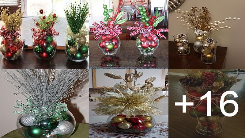 decoraciones navideñas con frascos de vidrio