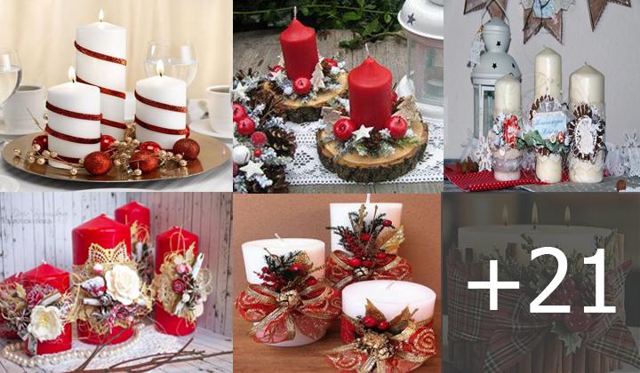 como hacer velas decorativas navideñas