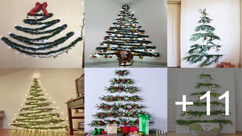 Hacer árbol de navidad en la pared