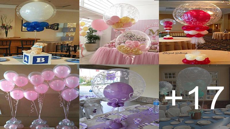 como hacer centros de mesa con globos para festejos