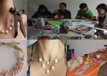 Aprende hacer collar de perlas