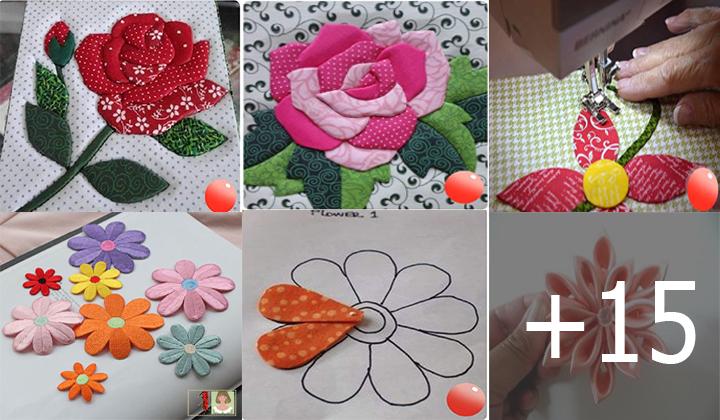 hacer flores de tela para decorar