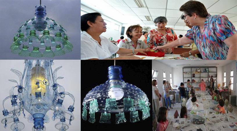 Curso Gratis de lamparas hechas de botellas plásticas