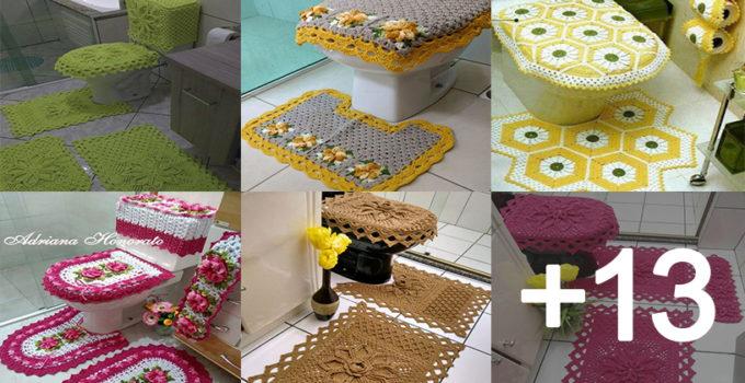 Como hacer juegos de baños de crochet