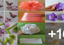 Aprende hacer flores de cintas paso a paso