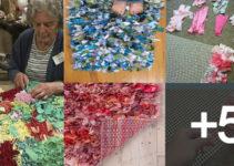 alfombras de nudo con retazos de tela o trapillo