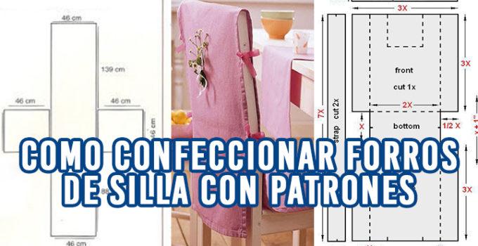 CORTE Y CONFECCIÓN DE CUBRE SILLAS DE COMEDOR