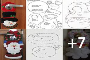 Hacer Cuelgapuertas navideños con moldes